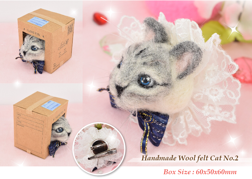 wool felted cat_2